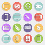 Technology and multimedia icons Royalty Free Stock Photo