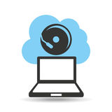 Technology music cloud electrical sound Stock Photos