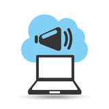 Technology music cloud sound speaker Royalty Free Stock Photography