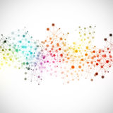 Technology Network Multicolor Background Stock Image