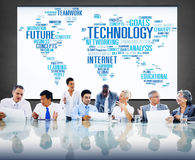 Technology Networking Connection Global Communication Concept Royalty Free Stock Images