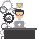 Technology and networking design Stock Photography