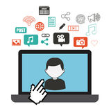 Technology and networking design Stock Images