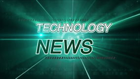 Technology news background stock footage