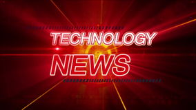 Technology news background stock video