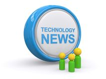 Technology news button Stock Photo