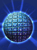 Technology numbered sphere Stock Images