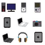 Technology object pixel. This is object pixel you can used for web design or game design Royalty Free Stock Images