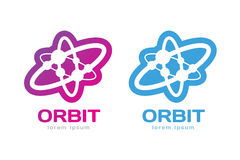 Technology orbit web rings logo Stock Image