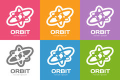 Technology orbit web rings logo Royalty Free Stock Photography