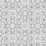 Technology oriented abstract seamless background. Technology repeating vector pattern in black and white. abstract repeating pattern composed of lines, circles Stock Photos