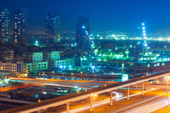 Technology park of Dubai Internet City at night Royalty Free Stock Images