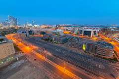 Technology park of Dubai Internet City at night Royalty Free Stock Image