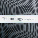 Technology pattern. Metal perforated blue Stock Images