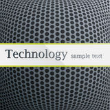 Technology pattern. Metal perforated green Stock Image