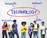 Technology Process Innovate Network Data Concept. Technology Process Innovate Network Data royalty free stock photos