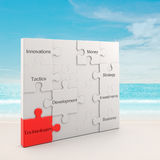 Technology puzzle concept Royalty Free Stock Images