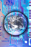 Technology reaching the world Royalty Free Stock Photo