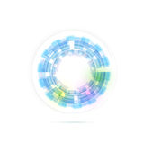 Technology ring transparent modernistic. Clip-art Royalty Free Stock Photo