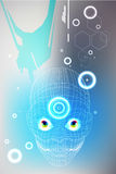 Technology robot face Royalty Free Stock Images