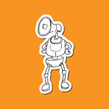Technology Robot Megaphone Royalty Free Stock Image
