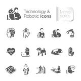 Technology & robotic icons Royalty Free Stock Photos