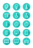 Technology and science icons. Royalty Free Stock Images