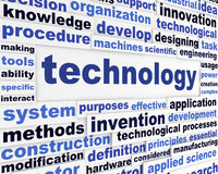 Technology scientific words design Stock Images
