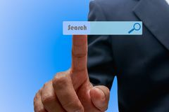 Technology searching system and internet computer Royalty Free Stock Photos