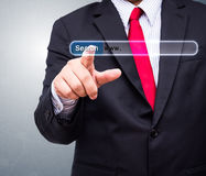 Technology, searching system and internet concept Stock Image