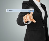 Technology, searching system and internet concept Royalty Free Stock Images