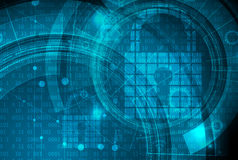Technology security concept. Modern safety digital background Stock Images