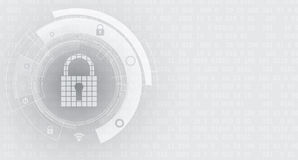 Technology security concept. Modern safety digital background Royalty Free Stock Photos
