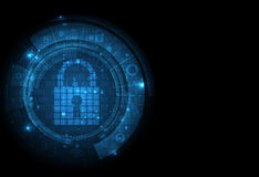 Technology security concept. Modern safety digital background Royalty Free Stock Photo