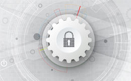 Technology security concept. Modern safety digital background Royalty Free Stock Images