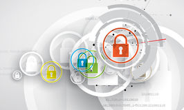 Technology security concept. Modern safety digital background. Protection system Stock Photography