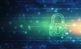 Free Technology Security Concept. Modern Safety Digital Background. Protection System, Cyber Security And Information Or Network Protec Stock Photos - 160960223