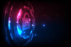 Technology security concept. Modern safety digital background. Protection system.vector illustation royalty free illustration