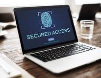 Technology Security Fingerprint Password Concept Stock Photos