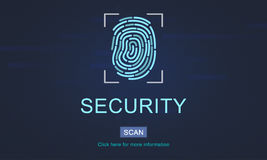 Technology Security Fingerprint Password Concept Stock Image