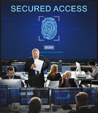 Technology Security Fingerprint Password Concept stock images