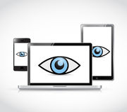 Technology security illustration design Stock Photos
