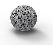 Technology soccer ball stock illustration