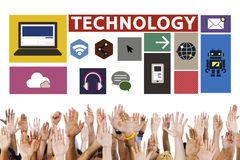 Technology Social Media Networking Online Digital Concept Royalty Free Stock Photography
