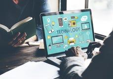 Technology Social Media Networking Online Digital Concept Stock Image