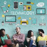 Technology Social Media Networking Online Digital Concept.  Royalty Free Stock Photos