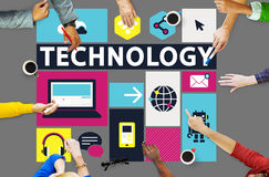 Technology Social Media Networking Online Digital Concept Stock Photography