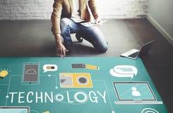 Technology Social Media Networking Online Digital Concept.  Stock Image