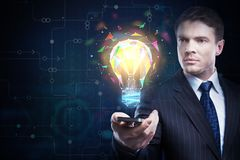 Technology and solution concept Royalty Free Stock Photos