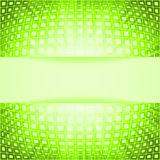 Technology squares with green flare burst Royalty Free Stock Image